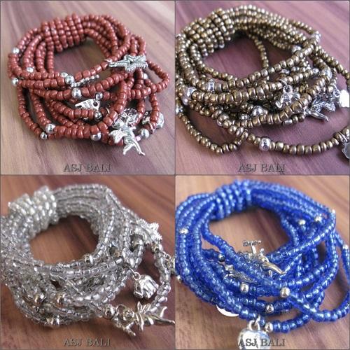 bali stretch beads bracelet charms fashion