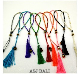crystal beads bracelets tassels small