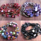 multi seeds beads stretch bracelet bali