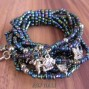 solid color beads bali bracelet stretch charm