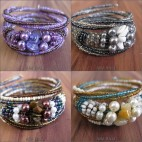 spiral bali beads bracelet designs rolling