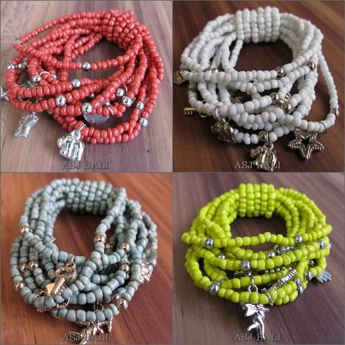 stretching beaded bracelets charming handmade bali