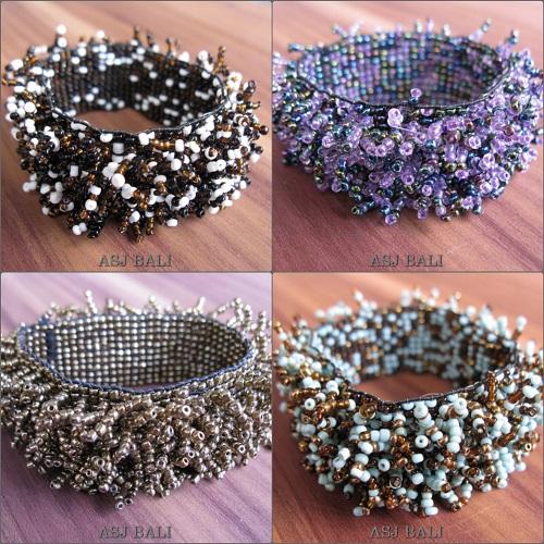stretching beaded bracelets grass designs bali