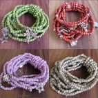 stretching beads bracelet multiple strand