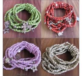 stretching beads bracelet multiple strand