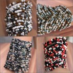 women glass beads bracelet stretch bracelet
