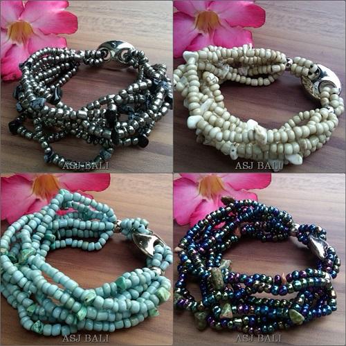 bali stretch bracelet beaded handmade