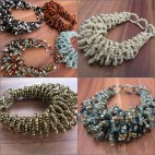 beaded bracelet multiple wired seeds handmade