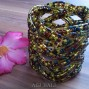 biggest size glass beads cuff bracelet handmade