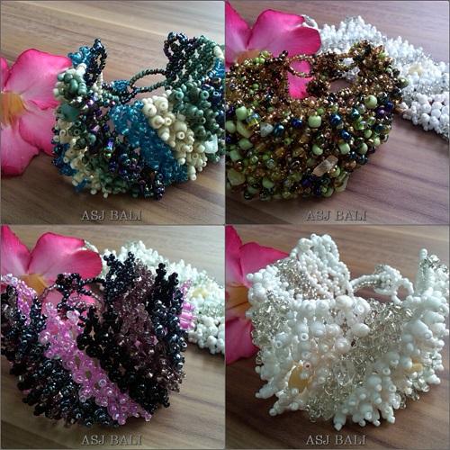exotic beads bracelet women style grass
