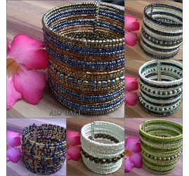 large size beads cuff indian style madein bali