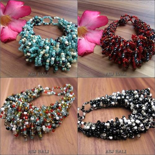 multi wrapted beads bracelets bali