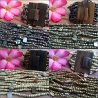 natural wood buckle clasps bracelet stretches