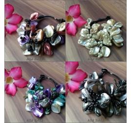 seashells bracelet flower with beads