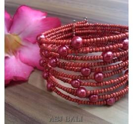 bali cuff bracelet red made in bali