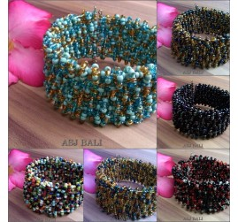 beads crystal bracelets rain fall designs