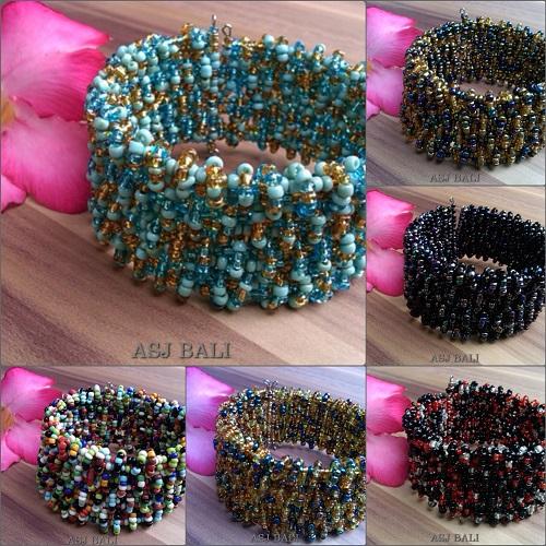 beads crystal bracelets rain fall designs