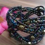 cuff beads bracelets glass bali design