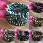 grass beads handmade cuff bracelets bali design