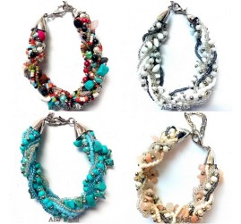 handmade balinese stone bracelet charms circles