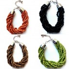 multiple strand bead bracelet charms bali