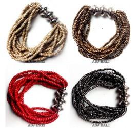 stretching beaded bracelets multi strand handmade