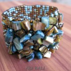 two color bead bracelet stretching handmade bali