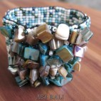 bali beads bracelet stretch with shells