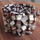 bali beads stretching bracelets natural