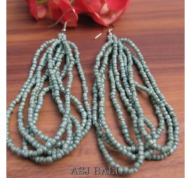 beads earrings multiple strandhooked turquoise