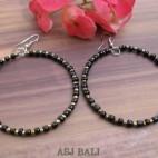 balinese beads fashion earrings hoop hooked black