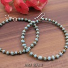 balinese beads fashion earrings hoop hooked turquoise