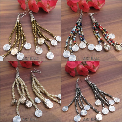 beads earrings charms designs 4color