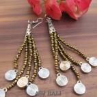 beads earrings charms designs tassels beads golden