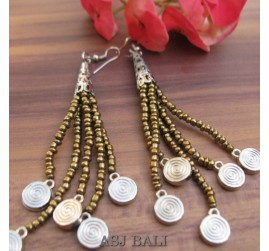 beads earrings charms designs tassels beads golden