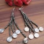 beads earrings charms designs tassels beads grey