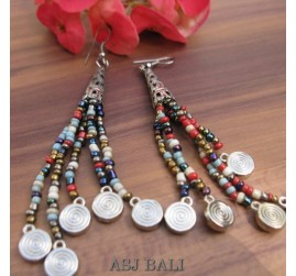 beads earrings charms tassels beads mix color