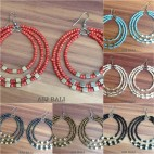 beads earrings hoop triangle fashion 6color mix