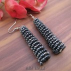 beads earrings stick designs new grey