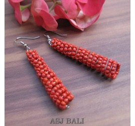 beads earrings stick designs new red Color
