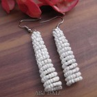 beads earrings stick designs new white color