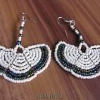 fan beads earrings style handmade from bali