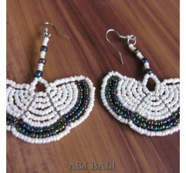 fan beads earrings style handmade from bali