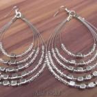 strings 5seeds beads earrings steel beige color
