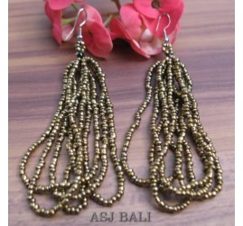 earring fashion multiple seeds bead gold color