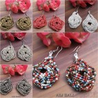wrapted beads earrings multiple seeds 6color