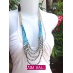 5seeds beads blue necklace beauty designs with steels