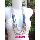 5seeds beads grey necklace beauty with steels