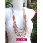 5seeds beads orange necklace beauty designs steels