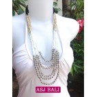 5seeds beads white necklace beauty designs with steels